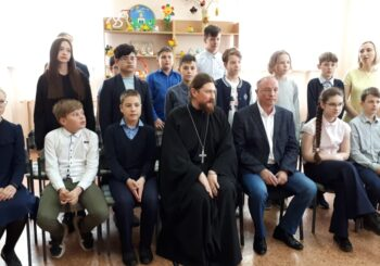 «Он нес Руси святое знамя» — встреча школьников со священником и писателем