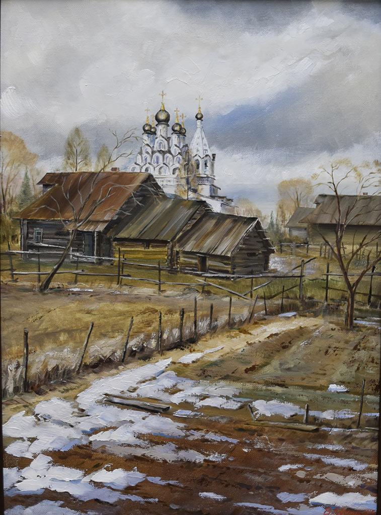 Владимир Губский. Последний снег, Комягино. Холст, масло, 2015 год