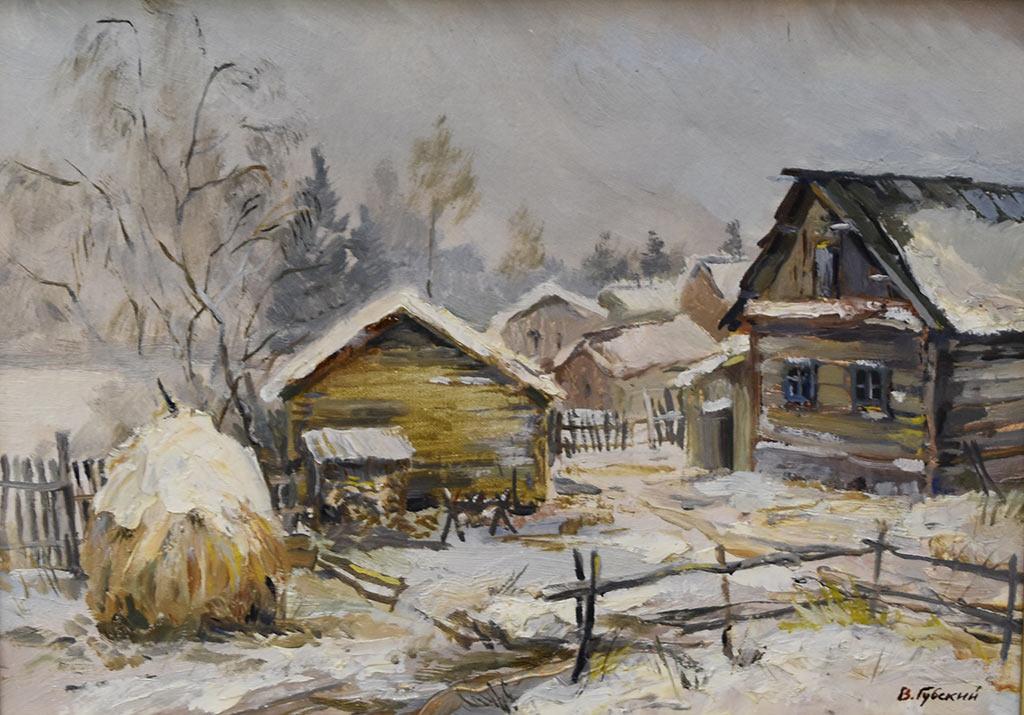 Владимир Губский. Оттепель. Холст, масло, 2014 год