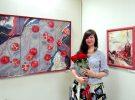 В ЦГБ им. И.Ф. Горбунова  работает выставка живописи Ольги Багиной «Гранатовые сны»