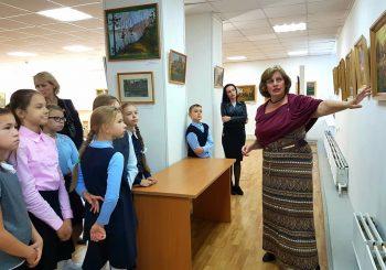Ученики городской Школы № 5 посетили выставки в ЦГБ им. И.Ф. Горбунова