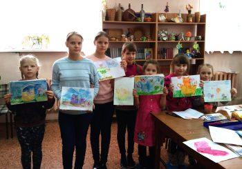13февраля в библиотеке-филиале №2 состоялось очередное занятиекружка по рисованию для детей